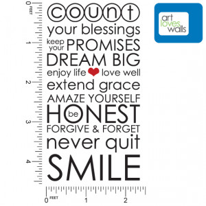 Count Your Blessings Quote Wall Decal