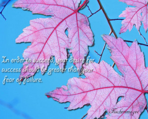 Inspirational Quote Red Fall Leaves Blue Sky Background Nature Wall ...