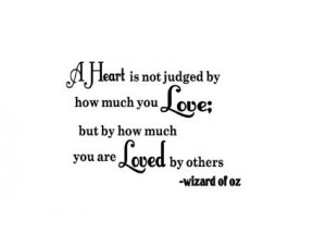 Wizard of oz Heart Wizard of oz Vinyl Wall Quote