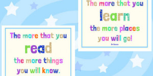 Preview: Dr Seuss Reading Quotes Poster