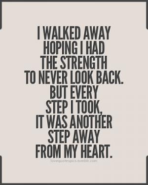 walked away hoping