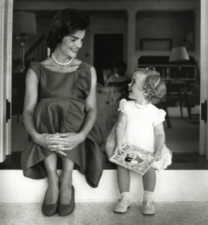 Caroline Kennedy As A Child 1960- jackie and caroline in