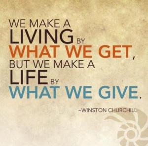 Life vs. Living by Winston Churchill