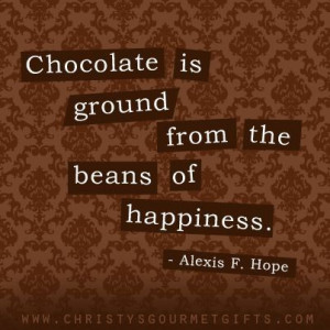 from the beans of happiness.
