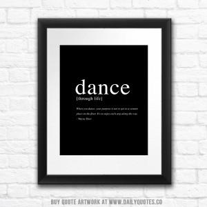 Dance Through Life Quote