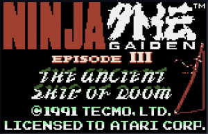 ... File 1 for Ninja Gaiden III - The Ancient Ship of Doom (USA, Europe