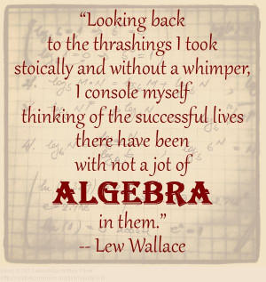 quote from Lew Wallace: An Autobiography, Volume I, page 54. # ...