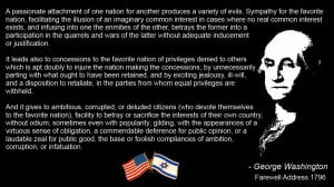 ... one nation for another produces a variety of evils - George Washington