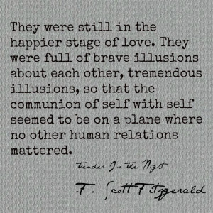 Tender Is The Night, F. Scott Fitzgerald (reading it right now ...