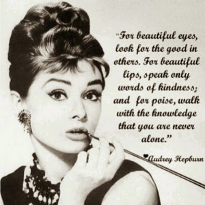 Famous Audrey Hepburn Quotes & Images