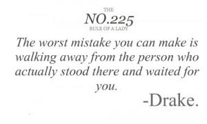 Drake, quotes, sayings, mistake, love