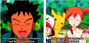 Brock Gets Burned By Misty For Getting Too Mushy On Pokemon