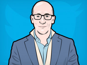 Dick Costolo Twitter Portrait Illustration