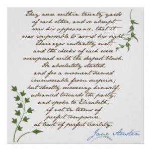 Jane Austen's Pride & Prejudice Quote #1 Poster