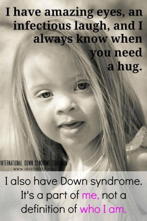 quote about Down Syndrome.Inspiration, Disabilities, Down Syndrome ...