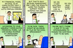 Dilbert - Financial Model for Career Advancement