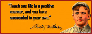 Quotes by Christy Mathewson