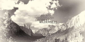 Yosemite Valley Sepia With Quote Photograph