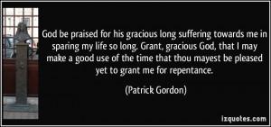 More Patrick Gordon Quotes
