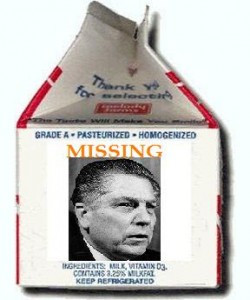 Jimmy Hoffa milk carton SOURCE photobucket.com Fair Use