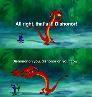 Day 21: Favorite Quote is from Mulan