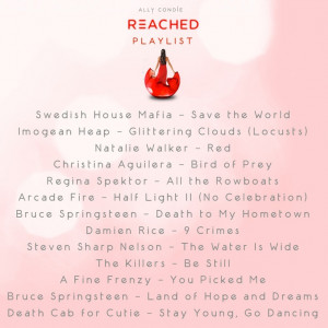 Music playlist for REACHED by Ally Condie