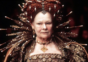... by miramax films shows actress judy dench playing queen elizabeth i in