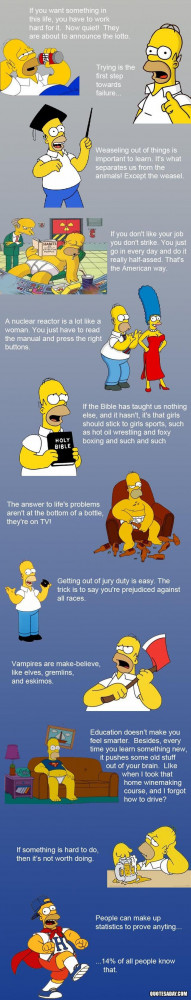 Homer Simpson Quotes... =) - my dad's life philosophy... everything I ...