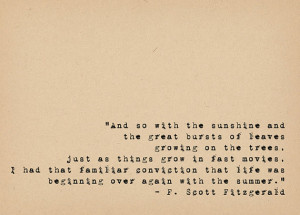 Fitzgerald Quote - Book Lover Art - Literary Art Quote Print - 1920s ...