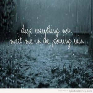 Kissing rain lyrics