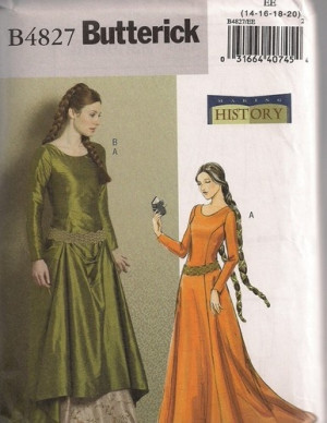 Butterick Historical Medieval Costume Sewing Pattern . Grossly ...