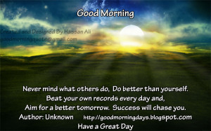 Good Morning Thoughts for 17-06-2010