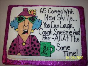 Maxine 65th Birthday Cake