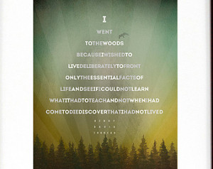 Henry David Thoreau – I Went To The Woods...[2] Quote in shape of a ...