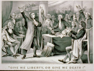patrick henry give me liberty or death