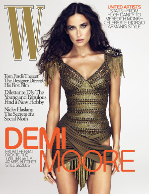 Photos And Quotes From Demi Moore in W Magazine