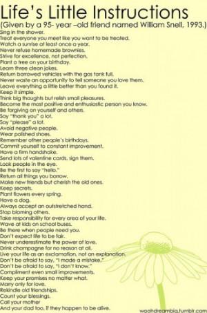 life's little list