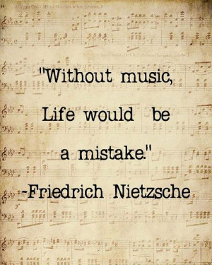 Quotes Nietzsche Music ~ Music Quote Musical Notes Vintage Feel ...