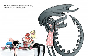 Mother's Day Cards Featuring the Alien