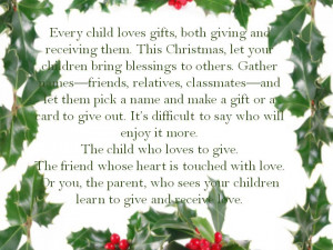 ... Gifts, Both Giving And Receiving Them. This Christmas - Joy Quotes