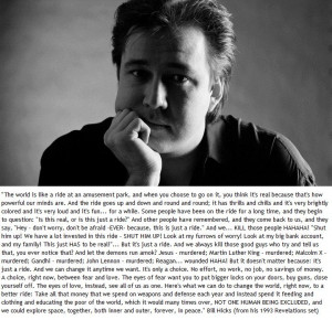 Epic Bill Hicks Quote