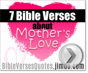 BIBLE VERSES ABOUT MOTHER'S LOVE