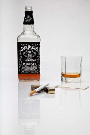 alcohol cigarette whiskey coke lighter vertical Jack Daniel's
