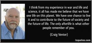 More Craig Venter Quotes