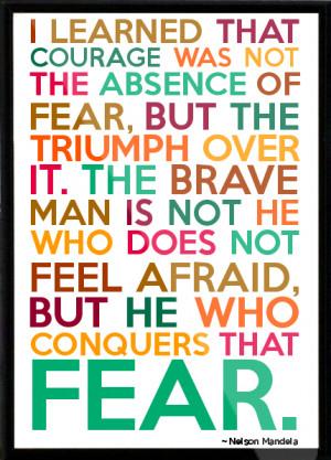 Nelson Mandela Framed Quote