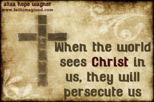 Following Christ and being misunderstood.