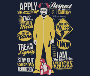 Breaking Bad Heisenberg Quotes T-Shirt