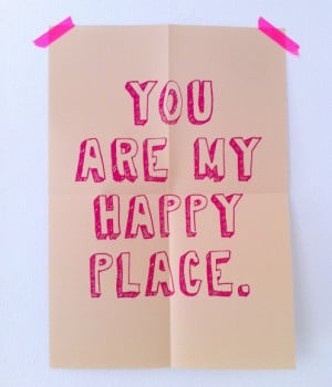 PETERSEN Poster You are my happy place