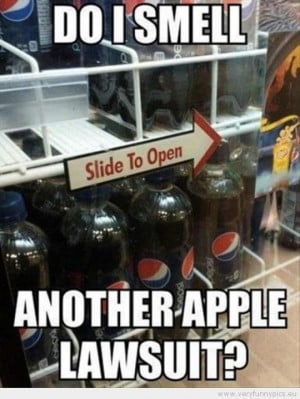 Funny Picture - Do i smell another apple lawsuit