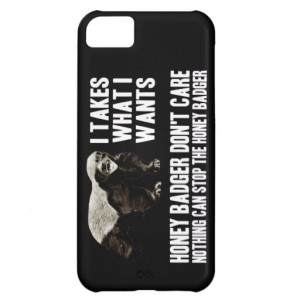 honey_badger_funny_quotes_case_for_iphone_5c ...